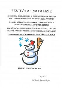 chiusura festivita natalizie